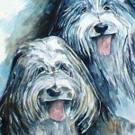 Bill and Judy's DogsWatercolor Painting