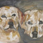 Labradors Oil Painting