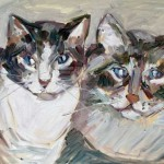 Mickey's Cats Oil Painting